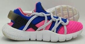 Nike Huarache NM Nylon Trainers 705159 600 Pink Powder/Blue/white UK9/US10/EU44