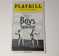 Playbill The Boys From Syracuse 2002 American Airlines Theatre Broadway Theater