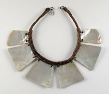 "Ifugao Igorot mother-of-pearl necklace ""Palangapang"" / Vintage Philippines"