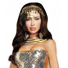 Goddess Headpiece Cleopatra Coin Crown Halloween Costume Fancy Dress