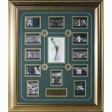 Cricket Australia Sir Donald Bradman Card Set 4 x Coins and 12 photos - Framed