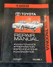 1999 Toyota Tacoma repair manuals volume 1