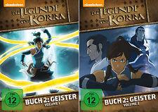 2 DVDs * DIE LEGENDE VON KORRA - BUCH 2  GEISTER - VOL. 1 + 2 IM SET # NEU OVP +