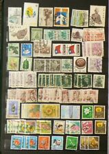 Asia Lot of Over 670 Cancelled Stamps A Few Mint Hinged #6529