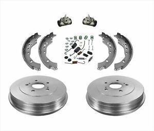 Fits For 08-14 Scion xD Rear Brake Drums Brake Shoes Springs Rr Cylinders 6Pc Kt