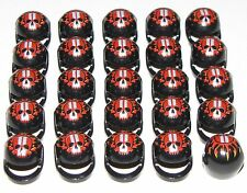 LEGO LOT OF 25 MINIFIGURE MOTORCYCLE HELMETS WITH SKULL PATTERN PIECES