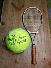 New listing Rare Hanil Cebonix Gold Boron Ceramic Tennis Racket Racquet Leather Grip 4 1/2