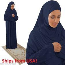 Amade muçulmano Mulher Vestido De Oração Islâmico abaya Haji umrah Gift Set 4 Itens