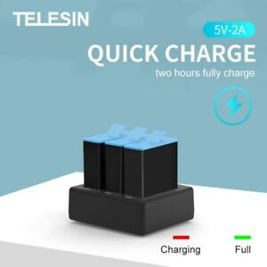 TELESIN Triple Battery Charger for GoPro Hero 9 Black Action Camera