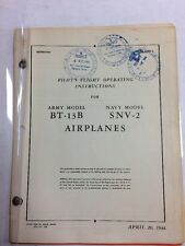 1944 BT-13B Army /SNV-2 Navy Original Pilot's Flight Operating Instructions