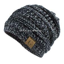 ee86402413a Women s Men Knit Slouchy Baggy Beanie Oversize Winter Hat Ski Fleece  Slouchy Cap