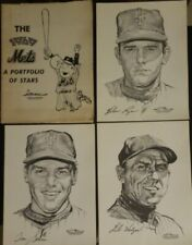 1969 NEW YORK METS - A PORTFOLIO OF STARS- Daily News; Complete Set 20 sketches
