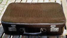 vintage suitcase - Antiker Reise Koffer Oldtimer Reisekoffer Krokooptik Koffer