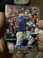2018 Topps Albert Almora Signed Auto Chicago Cubs Card