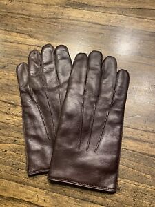 Coach Womens Gloves Leather Size Small / Med Brown NWOT