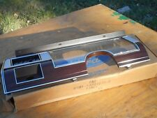 NOS 1979 - 1982 MERCURY COLONY PARK GRAND MARQUIS DASH CLUSTER FINISH PANEL BEZE