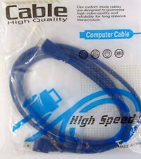 USB 3.0 A Male to Micro-B Blue Cable for Mobile Hard Drive 1.5M
