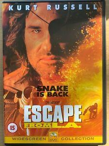 Escape from L.A. DVD 1996 John Carpenter Los Angeles Sci-Fi Action Film Movie