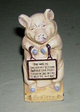 Antique Cast Iron Thrifty Pig Bank