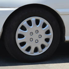 "4 PC Set 14"" Silver Hubcaps Snap-On Wheel Cover OEM Replacement Rim Skin Covers"