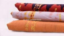 5 Yard Fabric 100% Pure Cotton Sewing Craft Voile Print Tie Dye Shibori Fabric