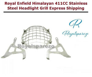 Royal Enfield Himalayan 411CC Stainless Steel Headlight Grill Express Shipping
