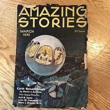 Amazing Stories Pulp Magazine March 1935 Volume 9, No. 11