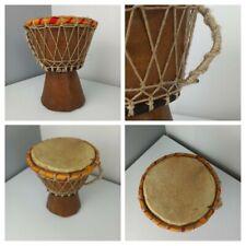 VINTAGE AFRICAN - Original Djembe Bongo Drum - Handmade Wooden Instrument 20cm