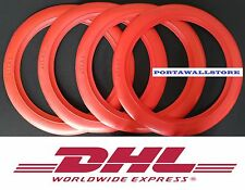 14'' Red Wall Portawall Tyre Port a insert Trim Set Free Shipping.