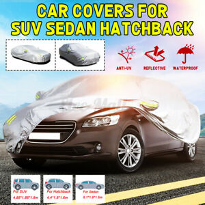 Waterproof Truck Full Car Cover UV Dust Rain Snow Ice For Sedan Hatchback SUV