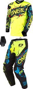O'Neal Element Villain Combo - Jersey Pant MX Motocross Dirt Bike ATV MTB Gear