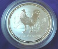 2005 Lunar Year of the Rooster Australia 2 oz .999 Silver Coin Round Perth Mint