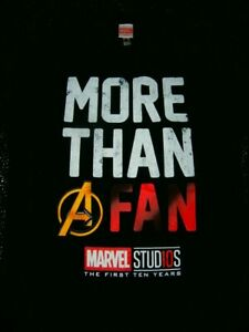 OFFICIAL MARVEL STUDIOS FIRST 10 YEARS 10 YEAR 2008 - 2018 T-Shirt Men M RARE
