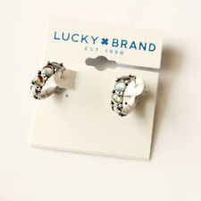 New Lucky Brand Abalone Hoop Earrings Gift Vintage Women Party Holiday Jewelry