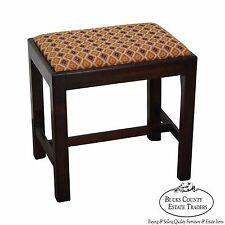 Custom Crafted Solid Mahogany Chippendale Style Stool