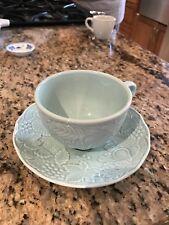 Ceramic Mugs with Saucer (Green)