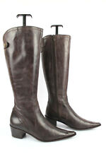 Sabrina Boots Tips Sharp / Pointed Brown Leather T 35 Good Condition