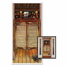 WILD WEST WESTERN COWBOY PARTY SALOON DOOR POSTER HANGING WALL DECORATION