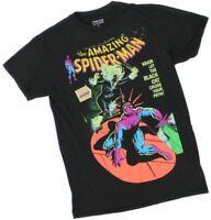 Marvel Men's Small Black Short Sleeve Spider-Man & Black Cat T-Shirt