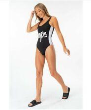 BNWT Hype Side Stripe Womens Ladies Swimsuit Swimming Costume Size 10