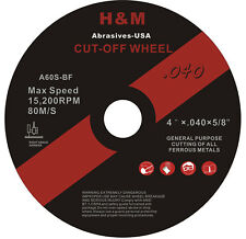 "100pk 4"" inch x .040"" x 5/8"" Premium Cut-off Wheel Cutting Blade Discs Type 1"