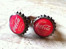"""TWO COLLECTIBLE """"DRINK COCA-COLA/COKE"""" RED CAP PULL KNOB FOR DOORS/CABINETS"""