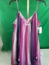 Tank Multi Colored,  Lined Living Doll Size Large Orig & 54.00 NEW NWT