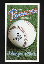 Atlanta Braves--1979 Pocket Schedule--Panasonic