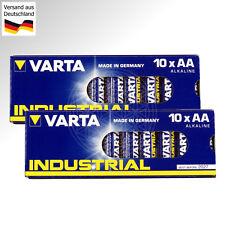 20 VARTA INDUSTRIAL AA Mignon Batterien 1,5V LR6 AM3 MN1500 EN91 4006 Stilo 1.5V