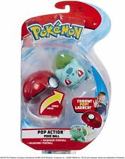 Pokemon: Bulbasaur Pop Action Poke Ball - Throw Pop Launch - Mini Plush + Ball