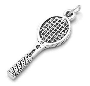 925 Sterling Silver Tennis Racket Charm