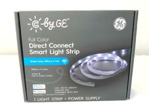 """*C by GE Full Color Direct Connect Smart Light Strip + Power Supply 80"""" Dimmable"""