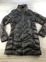 *Lauren Ralph Lauren Womens Sz Small Navy Purple Long Down Puffer Jacket *
