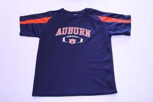 Youth Auburn Tigers Football S (8/10) Athletic Performance Shirt (Navy Blue) Pro